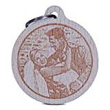 Wogenfels - Holz Schlüsselanhänger rund (Fotogravur beidseitig) | Gestalte deine Geschenkidee aus zahlreichen Motiven und deinem Foto als Gravur | QUALITÄT und SUPPORT aus Österreich
