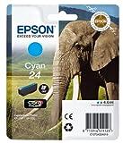 Epson T2422 Tintenpatrone Elefant, Singlepack, cyan