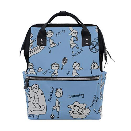 Sport Junge Coole Outdoor Acitive Große Kapazität Windel Taschen Mummy Rucksack Multi Funktionen Wickeltasche Tasche Handtasche Für Kinder Babypflege Reise Täglichen Frauen