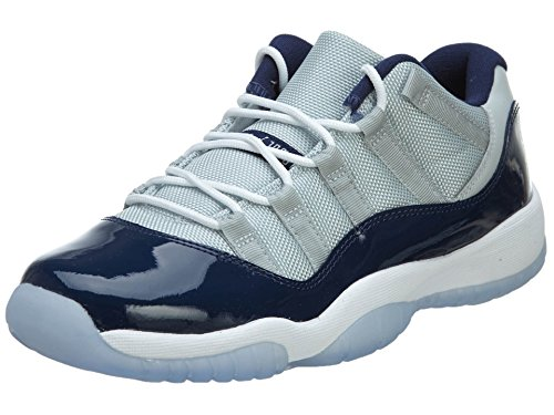 Nike Jungen Air Jordan 11 Retro Low Bg Basketballschuhe Gris / Blanco (Grey Mist / White-Midnight Navy)