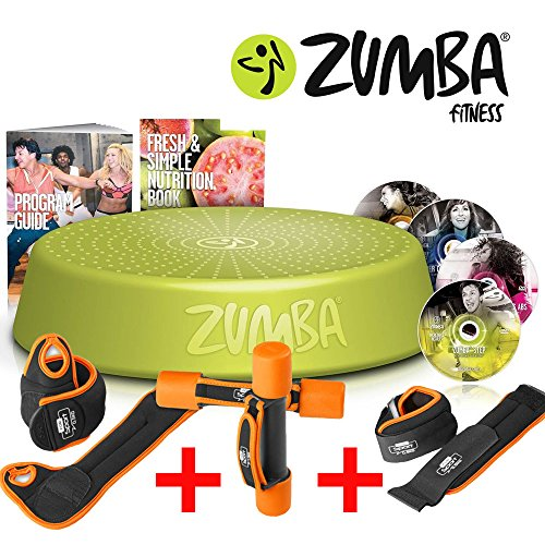 ZUMBA Fitness Incredible Results DVD Set + Step Rizer + Fitness Gewichte Set (Zumba Fitness-welt)