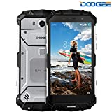 Smartphone ohne Vertrag, DOOGEE S60 IP68 Outdoor Handy - 4G Android 7.0 Smartphones WasserdichteShockproof - Helio P25 Octa-core - 5.2 Zoll FHD - 5580mAh Batterie 12V2A - 21.0MP Kamera NFC - Silber