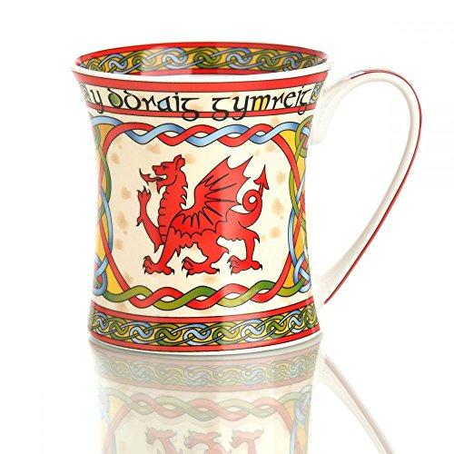 Eburya The Welsh Dragon Mug - Kaffeebecher aus Keramik mit walisischem Drachen