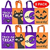 THE TWIDDLERS Halloween Stofftaschen Geschenktachen - 4 Verschiedene grueselige Designs - Taschen Perfekt für Trick or Treat, Mitgebsel, Leckerlis, Partytaschen, Geschenk.