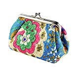 Best Broadfashion Womens Wallets - Women's Cute Embroidered Hasp Purse Clutch Bag Key Review