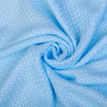 Musselin, Baby Decke 0–3Monat Unisex Junge Mädchen 100% reine Baumwolle Größe: Länge 100cm, unterer Saum 140cm, Anzug Jahr: 0–6Jahre Light blue 100x140cm (Mumienschlafsack Lite Lange)