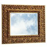 Romantik Barock Spiegel Kristall 50x60 Massivholzrahmen Badspiegel Wandspiegel