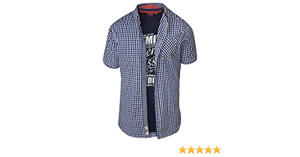 D555 Men/'s Jaiden Super King Size Short Sleeve Shirt /& T Shirt Pack 7XL /& 8XL