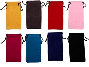 SMARTBUYER-10pcs Glasses Sunglasses Bag Pouch Cellphone Pocket Bags Jewelry Bags Glasses Drawstring Storage Bag(pack of 10)