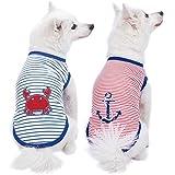 Blueberry Pet Hunde-Shirt, Verschiedene Designs, weiche und Bequeme Baumwollmischung, Verschiedene Verpackungen