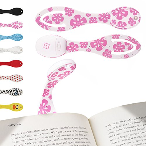Gifts for Book Lovers Best Reading Light for Books in Bed Bright Powerful LED for Kids & Bookworms Pink Flowers Test