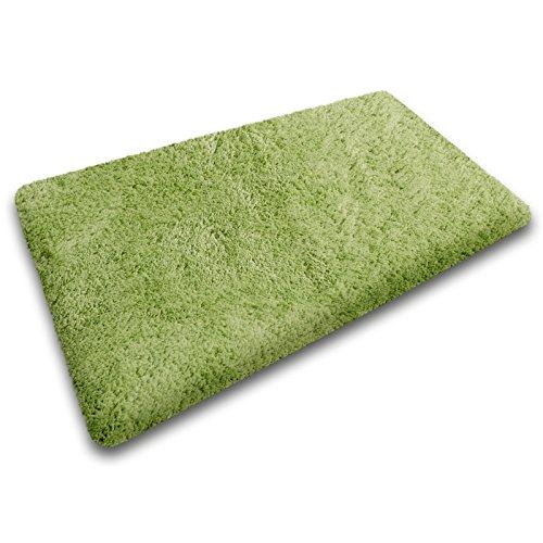 Badematte aus weichem & kuscheligem Hochflor | Öko-Tex zertifiziert | grün | 70x120cm