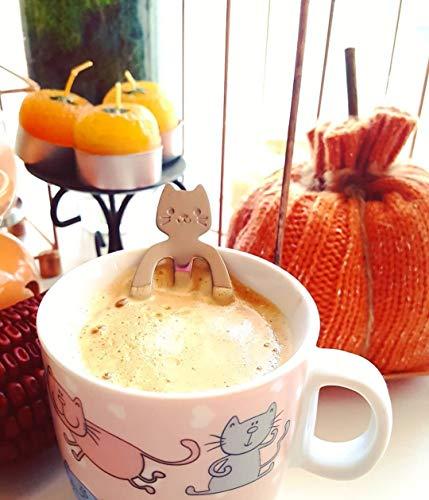 Ayomi 4Edelstahl Katze Kätzchen Design Edelstahl Kaffee/Dessert/Drink/mischen/Milchshake Löffel Geschirr Besteck Gadgets Scoop Schöpfkelle Löffel - 6