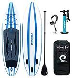 WOWSEA AN15 Surfboard aufblasbar Paddle Paddle Board, aufblasbar mit-Größe 335 x 81 x 15 cm