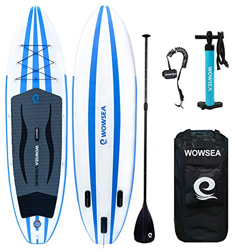 WOWSEA AN15 Surfboard aufblasbar Paddle Paddle Board, aufblasbar mit-Größe 335 x 81 x 15 cm -