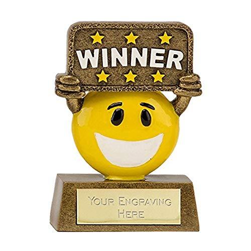 8.89 cm Happy Chappy Multi plus Award Winner Trophy GRATIS Gravur (bis zu 30 Buchstaben A1641