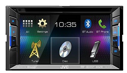 JVC KW-V21BTE Multimedia-Receiver (DVD, CD, USB, Bluetooth) schwarz (Dvd-cd-receiver Multimedia Jvc)