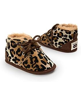 Kfnire Unisex Neugeborene Winter Warm Schnee Stiefel Gummisohle Prewalker Kind-Schuh