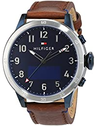 Tommy Hilfiger Herren-Smartwatch Casual Sport Analog - Digital Quarz Leder 1791300