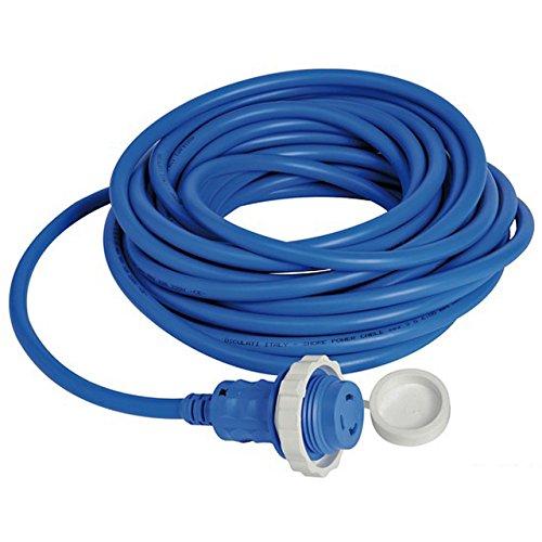 Osculati Stromkabel - Stecker & Schutzkappe mit Kabel - blau 10m max. 16 Ampere Landanschluss-stecker