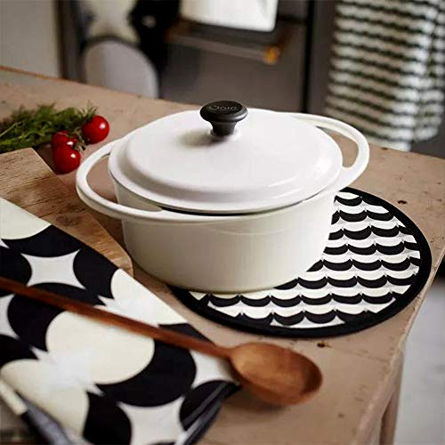 Cazuela grande de horno holandés en hierro fundido esmaltado Cocotte 4.0L con revestimiento antiadherente...