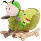 ZCRFY Rocker Ride-ons Chair Baby Rocking Horse Wooden 2 In 1 Dual Use