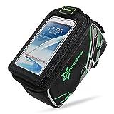 Aosbos Bolsa Impermeable de Bicicletas Bolso para el iPhone Samsung HTC Sony 4,2 a 6,0 Pulgadas Funciona en la Bicicleta (VERDE, 4.8)