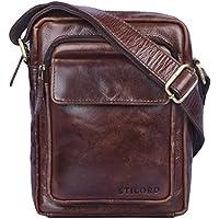 STILORD  Jannis  Borsello a tracolla uomo in pelle Piccola borsa messenger  per tablet da 4330a5b0009