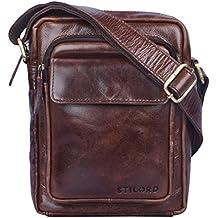 5d38e645ea690a STILORD 'Jannis' Borsello a tracolla uomo in pelle Piccola borsa messenger per  tablet da