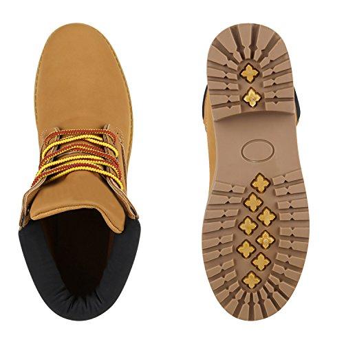Herren Outdoor Boots Bequeme Schnürstiefel Schuhe Hellbraun
