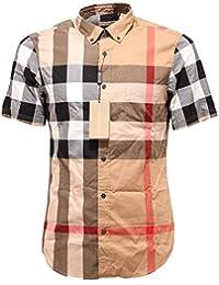 1a1edcf063309 Burberry 2570G Camicia Uomo Brit Manica Corta Shirt Short Sleeve Men