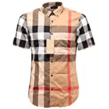 BURBERRY 2570G Camicia Uomo BRIT Manica Corta Shirt Short Sleeve Men [XXXL]