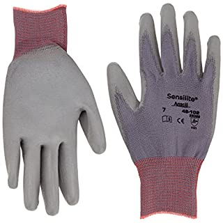 Ansell SensiLite 48-102 Mehrzweckhandschuhe, Mechanikschutz, Grau, Größe 7 (12 Paar pro Beutel)