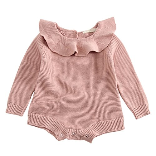 Baby Mädchen Stricken Strampler, Brightup Säuglings Strickwaren,Langarm Stricken Bodys & Einteiler, Herbst Winter Pullover
