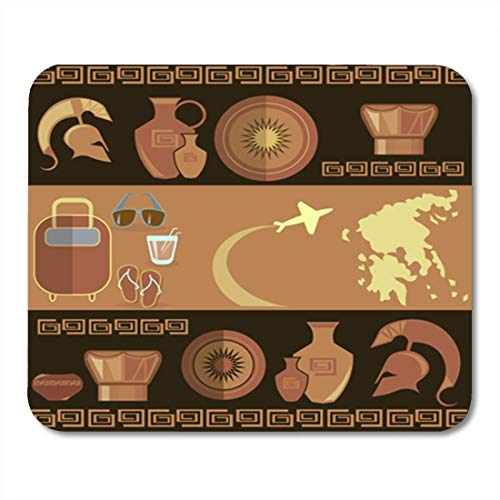 5db4bafdee66 AOCCK Gaming Mauspads, Gaming Mouse Pad Brown Aircraft Tours in Greece  Airline Airplane Amphora Ancient Antique 11.8