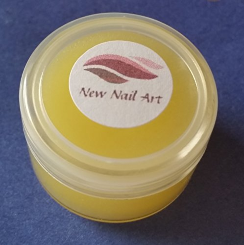 NEW Nail Art Crème de soin pour la peau dans döschen Jaune 10 ml Parfum de cerisier, pour, secs cuticules abîmées