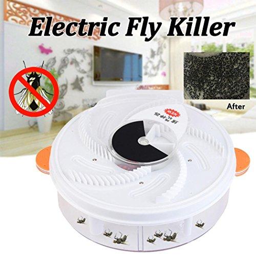 Diadia autumatic Electric Purple Light Fly Trap USB Aufladen Gerät mit Fallenjagd Lebensmittel + Bürste Orange