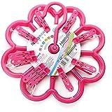 XQXRopa redonda de plástico clip suspensión a prueba de viento la ropa interior calcetines peg tendedero , rose red