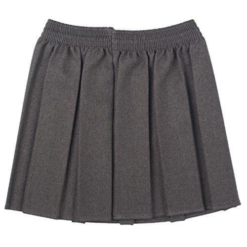 Neu OU Schuluniform Mädchen Kiste Plissiert Elastisch Rock Schulkleidung Größe 2-17yrs - grau, 134-140 (Ginny Weasley Kostüm)
