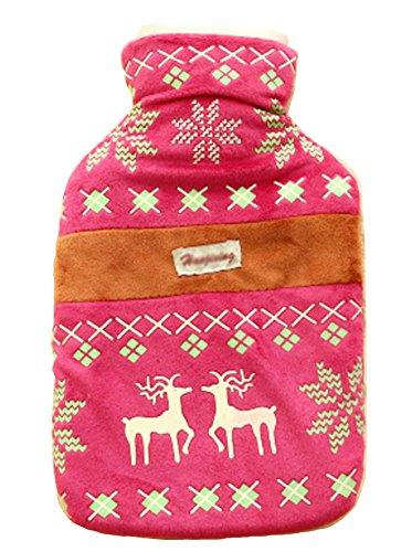 peluche-style-ethnique-bouteille-de-deer-eau-chaude-avec-cover-rouge