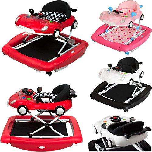 PREMIUM Lauflernhilfe / Babyschaukel mit Spielcenter (12 Melodien) & Tablett (PINK)