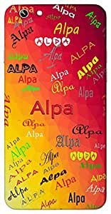Alpa (Popular Girl Name) Name & Sign Printed All over customize & Personalized!! Protective back cover for your Smart Phone : Google Nexus-5
