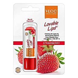 VLCC Lovable Lips Strawberry Lip Balm With SPF 15 Pack of 2