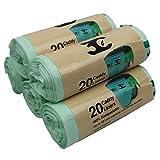 3C tie-top Caddy Liners, verde, 10litri, confezione da 5
