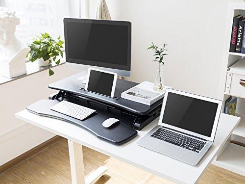 WOLTU Computertisch Sitz-Steh-Schreibtisch Sitz-Stand-Workstation Steharbeitsplatz Schreibtisch