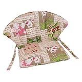 OUTLIV. Polsterauflage Stapelsessel Royal Garden Elegance/Royal Dourdan, Siena Garden Romaneo - Blumen-Design - Niederlehner Stuhlauflage Sesselauflage Sitzauflage Garten