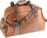 Cabin Bag Holdall for Men or Woman Leather Look Duffle Travel Bag Hand Luggage for Easyjet, Ryanair, British Airways, Jet 2, Virgin and Many Other Airlines