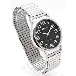 Mens Easy Read Back Expanding/Expander/Expansion Bracelet Band Watch (R0208.03.1S)