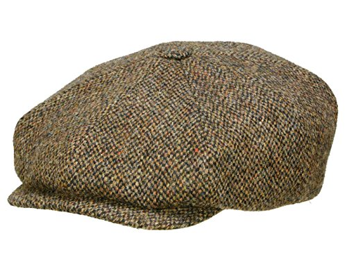 Stetson 8-Panel Harris Tweed Flatcap Mütze Schirmmütze Ballonmütze Wollcap...