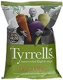 Tyrrell's Chips Légumes Lisses Betterave/Panais/Carotte/Sel de Mer 40 g - Lot de 24